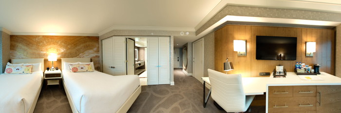 Panorama of the Resort Double Queen Room at the Mandalay Bay Resort & Casino