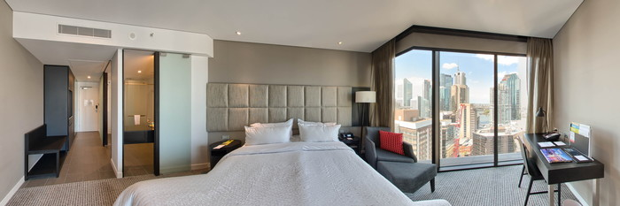 Panorama of the River View Room at the Four Points by Sheraton Brisbane