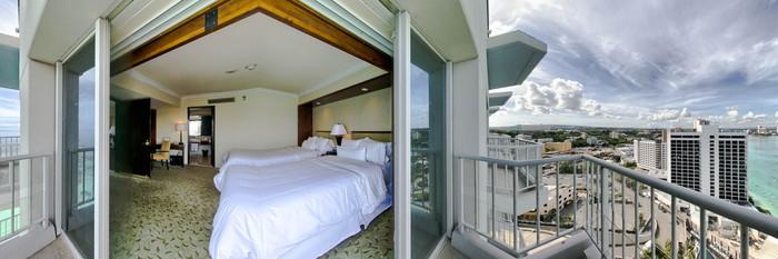 Panorama of the Royal Beach Club Ocean Front Suite at The Westin Resort Guam