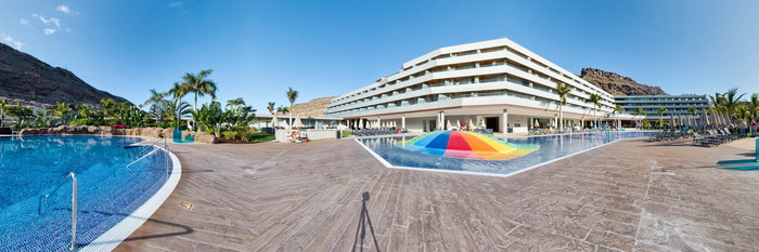 Panorama of the Saltwater Pool at the Radisson Blu Resort & Spa, Gran Canaria, Mogan