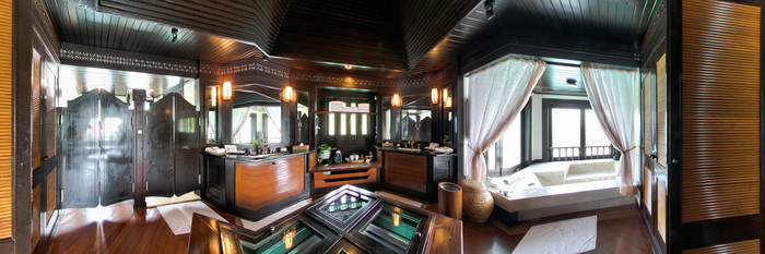 Panorama of the Sea Suite at the Pangkor Laut Resort
