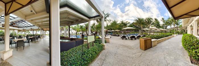 Panorama of the Seaside Pool at The St. Regis Bahia Beach Resort