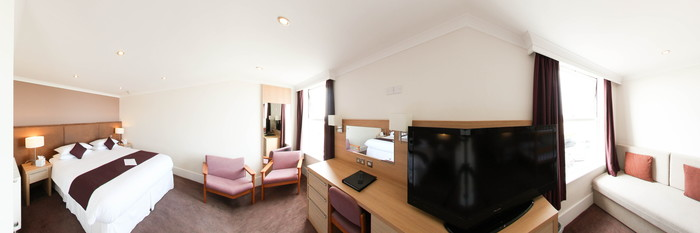 Panorama of the Seaview Family Room (Sleeps Five) at The Esplanade Hotel