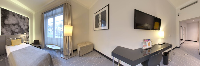 Panorama of the Second Twin Room at the art'otel budapest