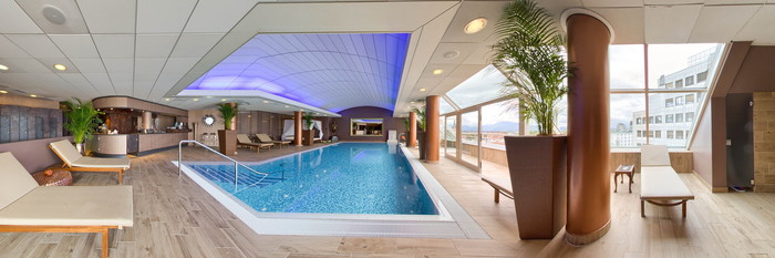 Panorama of the Sense Wellness Pool at the Grand Hotel Union