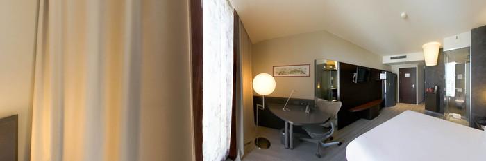 Panorama of the Single Room at the Hi Hotel Bari