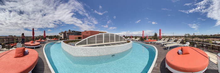 Panorama of the Sky Lounge & Pool at The Pearl Marrakech
