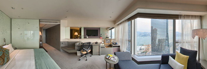 Panorama of the Spectacular Room at the W Hong Kong