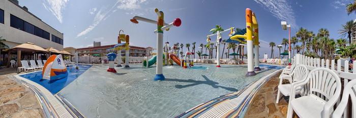 Panorama of the Splash Pad at the Holiday Inn Resort Panama City Beach