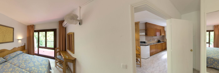 Panorama of the Standard Apartment at the Sol Parc Apartments