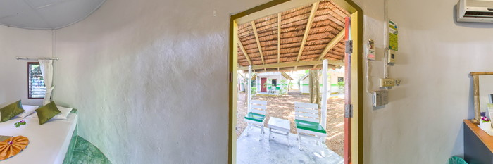 Panorama of the Standard Bungalow at the Lime n Soda Beach Front Resort