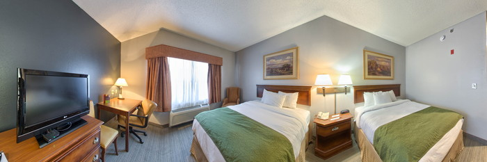 Panorama of the Standard Double Queen Room at the Country Inn & Suites By Carlson, Boone