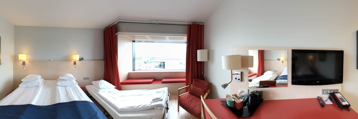 Panorama of the Standard Family Room at the Park Inn by Radisson Stockholm Hammarby Sjostad
