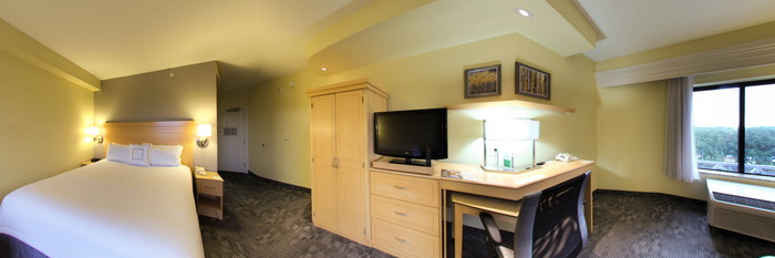 Panorama of the Standard King Room at the Courtyard Sandestin at Grand Boulevard