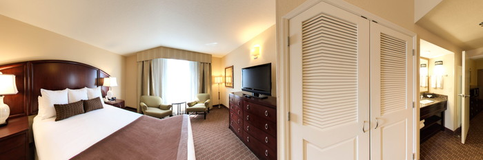 Panorama of the Standard King Suite at the Caribe Royale All-Suite Hotel & Convention Center