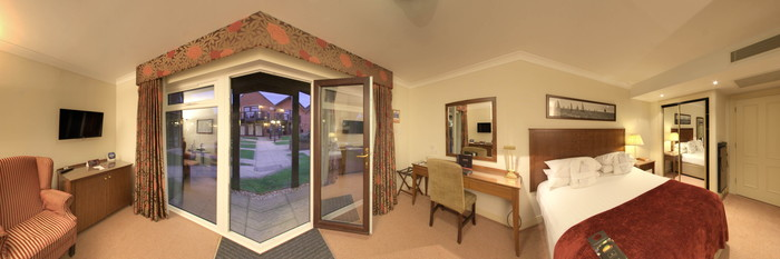 Panorama of the Standard Room at the Macdonald Elmers Court Hotel & Resort