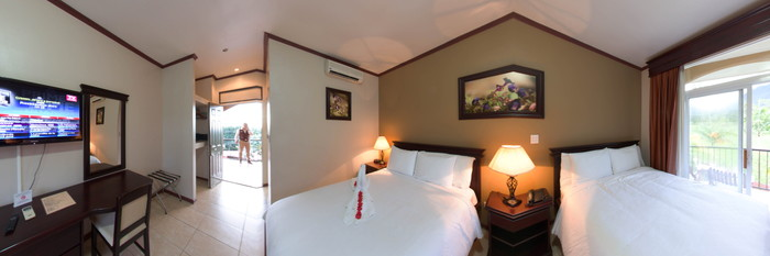 Panorama of the Standard Room at the Hotel Magic Mountain