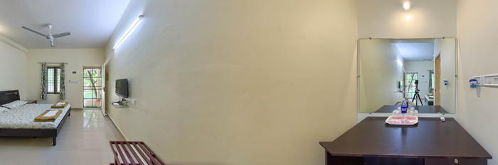 Panorama of the Standard Room at the Palm Grove Service Villa