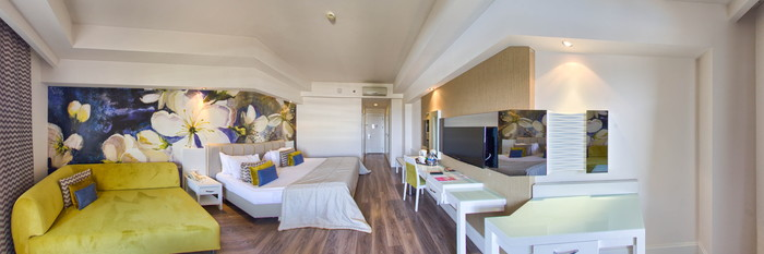 Panorama of the Standard Room at the Voyage Belek Golf & Spa