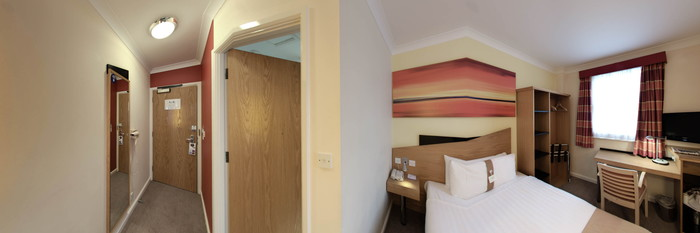 Panorama of the Standard Single Room at the Holiday Inn Express London - Victoria