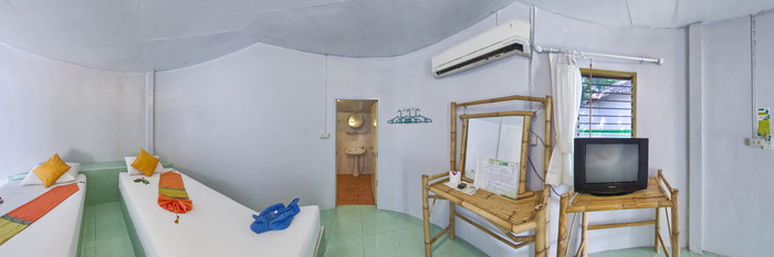 Panorama of the Standard Twin Bungalow at the Lime n Soda Beach Front Resort