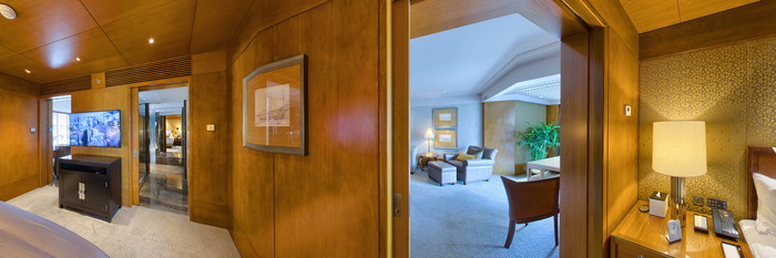Panorama of the Statue Square View Suite at the Mandarin Oriental, Hong Kong