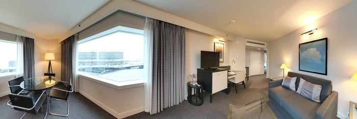 Panorama of the Suite at the Sheraton Amsterdam Airport Hotel and Conference Center