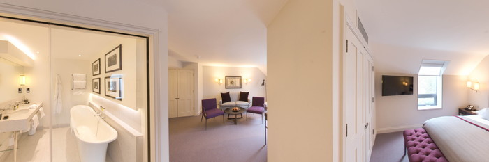 Panorama of the Suite at the Old Parsonage Hotel