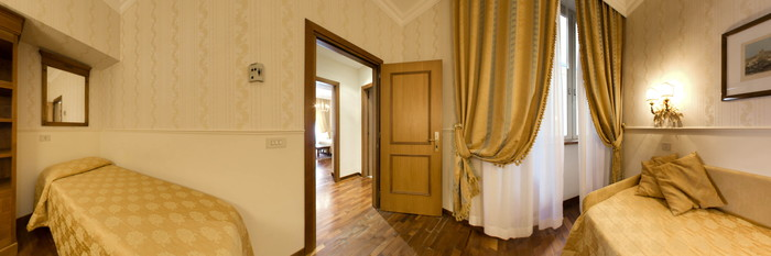 Panorama of the Suite at the Hotel Torino