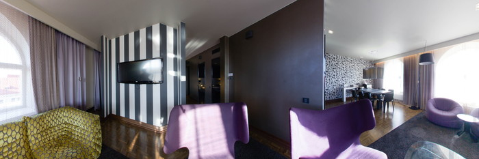 Panorama of the Suite at the Scandic Paasi