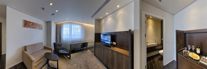 Panorama of the Suite at the Leonardo Boutique Rehovot