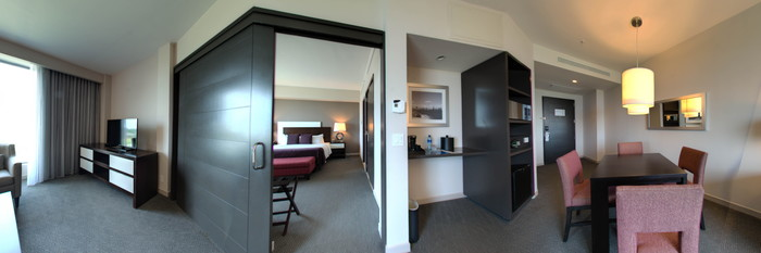 Panorama of the Suite at the Wyndham Panama Albrook Mall