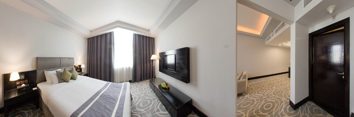 Panorama of the Suite Room King at the Mangrove Hotel by Bin Majid Hotels & Resort