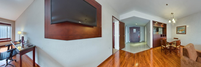 Panorama of the Suite Twin Room at the Tequendama Suites Bogota
