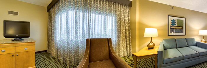 Panorama of the Suite with One King Bed at the DoubleTree Suites by Hilton Orlando - Disney Springs Area