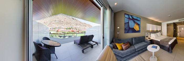 Panorama of the Superior Family Room with Pool View at the Radisson Blu Resort & Spa, Gran Canaria, Mogan