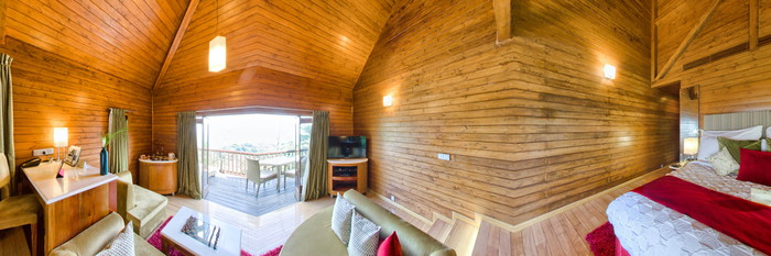 Panorama of the Superior Luxury Cottage at The Tamara Coorg
