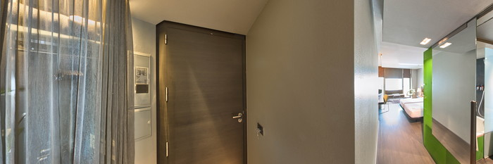 Panorama of the Superior Room at the Soho Hotel