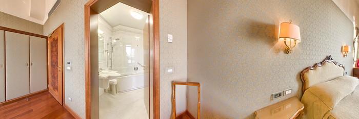 Panorama of the Superior Room at the Hotel Locanda Vivaldi