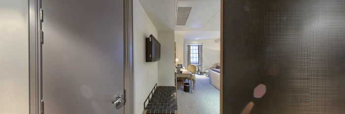 Panorama of the Superior Room at The Bloomsbury Hotel