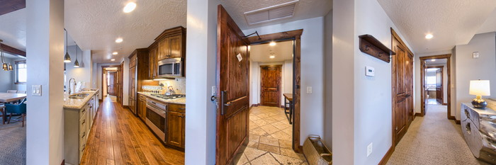 Panorama of the Three Bedroom at the Hyatt Centric Park City