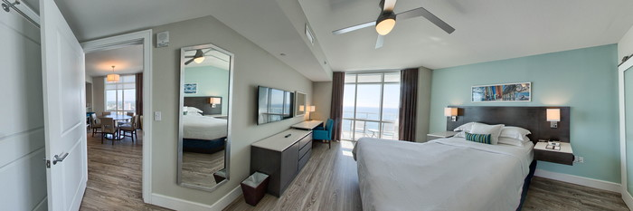 Panorama of the Three Bedroom Condo at the Ocean 22 by Hilton Grand Vacations