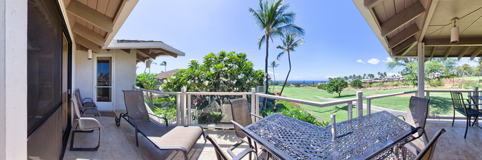 Panorama of the Three Bedroom Garden View at the Wailea Grand Champions Villas
