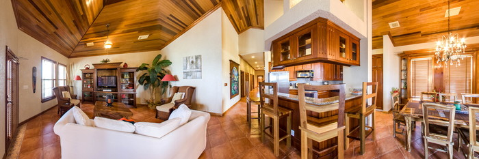 Panorama of the Three Bedroom Ocean View at the Grand Colony Island Villas