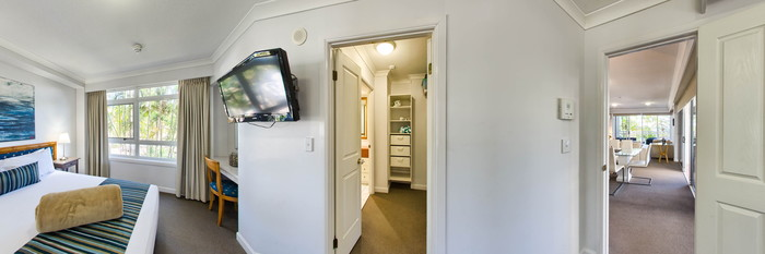 Panorama of the Three Bedroom Superior at the Burleigh Mediterranean Resort