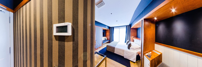 Panorama of the Top Room at the U232 Hotel
