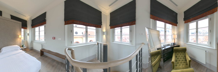 Panorama of the Tower Suite at The Augustine Hotel Prague