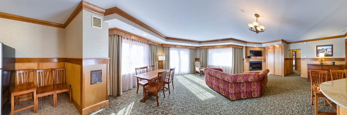 Panorama of the Tower Suite at the Crowne Plaza Lake Placid