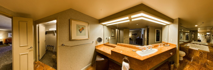 Panorama of the Tower Suite at the Treasure Island - TI Hotel & Casino