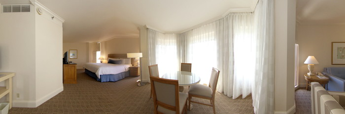 Panorama of the Towr Junior Suite with Sofa Bed at the Boca Raton Resort, A Waldorf Astoria Resort
